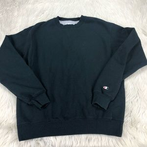 Champion Black Pullover Crew Sweatshirt